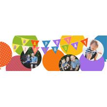 Birthday Photo Banner 2x6, Home Decor -Balloon Banner