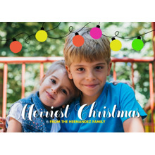 Christmas Photo Cards 5x7 Cards, Premium Cardstock 120lb with Elegant Corners, Card & Stationery -Ribbon of Lights