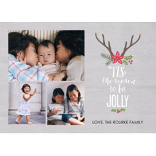 Christmas Photo Cards 5x7 Cards, Premium Cardstock 120lb with Rounded Corners, Card & Stationery -Season of Jolly