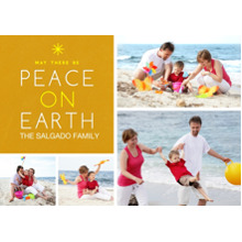 Christmas Photo Cards 5x7 Cards, Premium Cardstock 120lb with Rounded Corners, Card & Stationery -Modern Peace on Earth