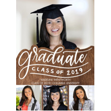 2019 Graduation Announcements 5x7 Cards, Premium Cardstock 120lb with Scalloped Corners, Card & Stationery -2019 Graduate Memories by Tumbalina