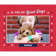 Pets Fleece Blanket, 50x60, Gift -Patriotic Pet