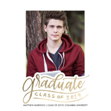 2019 Graduation Announcements 5x7 Cards, Premium Cardstock 120lb with Scalloped Corners, Card & Stationery -2019 Graduate by Tumbalina