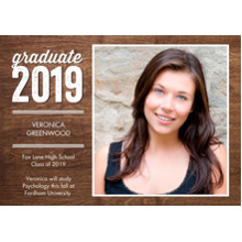 2019 Graduation Announcements 5x7 Cards, Premium Cardstock 120lb with Scalloped Corners, Card & Stationery -2019 Grad Snapshots by Tumbalina