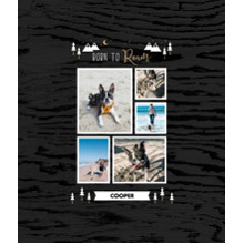 Pet Framed Canvas Print, Black, 8x10, Home Decor -Adventure Bud