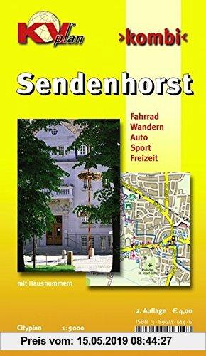 Gebr. - Sendenhorst: 1:10.000 Stadtplan mit Freizeitkarte 1:25.000 inkl. Radrouten und Wanderwegen (KVplan Münsterland-Region)