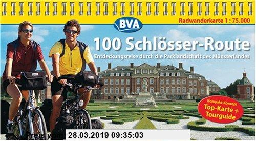 Gebr. - 100 Schlösser Route, Kompakt-Spiralo, Radwanderkarte 1:75.000
