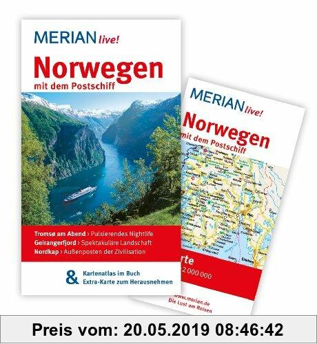Gebr. - Norwegen mit dem Postschiff: MERIAN live!  Mit Kartenatlas im Buch und Extra-Karte zum Herausnehmen: Tromso am Abend: Pulsierendes Nightlife.