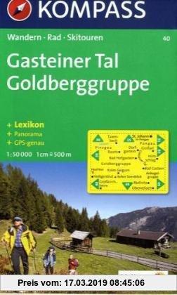 Gebr. - Gasteiner Tal, Goldberggruppe: Wander-, Rad- und Skitourenkarte. Mit Panorama. GPS-genau. 1:50.000