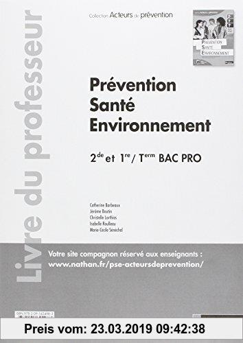 Gebr. - Prevention Sante Environnement Deuxième/Première/Term Bac Pro (Acteurs de Prevention) Professeur 2013