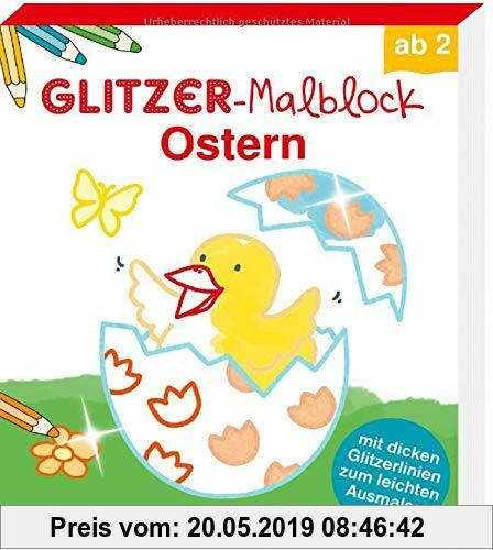 Gebr. - Glitzer-Malblock Ostern: Mit dicken Glitzerlinien zum leichten Ausmalen