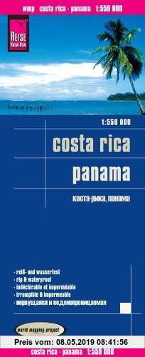 Gebr. - Reise Know-How Landkarte Costa Rica, Panama (1:550.000): world mapping project