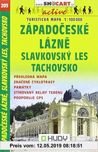 Gebr. - SC 205 Zapadoceske Lazne,  1:100000: Shocart Wanderkarte