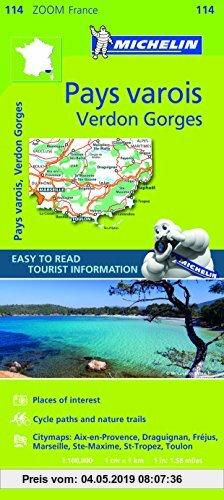 Gebr. - Michelin Zoom France: Pays Varois, Verdon Gorges (Michelin Zoom Maps, Band 114)
