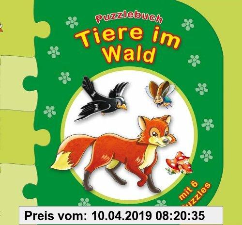 Gebr. - Puzzlebuch Tiere im Wald