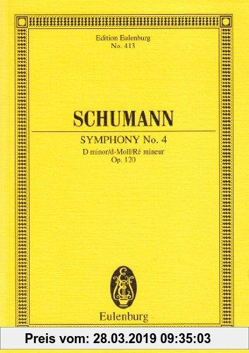 Gebr. - Sinfonie Nr. 4 d-Moll: op. 120. Orchester. Studienpartitur. (Eulenburg Studienpartituren)