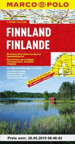 Gebr. - MARCO POLO Länderkarte Finnland 1:850.000