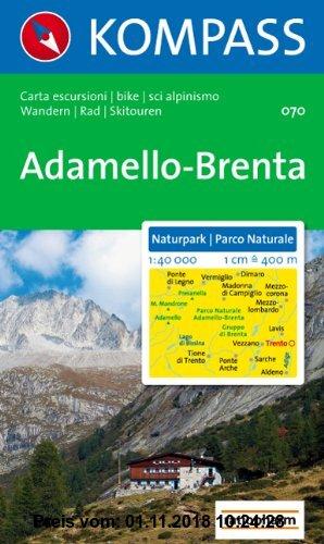 Gebr. - Naturpark Adamello-Brenta: Wandern / Rad / Skitouren. Carta escursioni / bike / sci alpinismo. 1:40.000