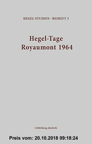 Hegel-Tage Royaumont 1964