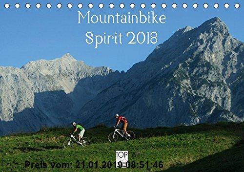 Gebr. - Mountainbike Spirit 2018 (Tischkalender 2018 DIN A5 quer): 13 faszinierende Radsportmotive in den Alpen (Monatskalender, 14 Seiten ) (CALVENDO
