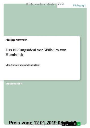 Gebr. - Das Bildungsideal von Wilhelm von Humboldt: Idee, Umsetzung und Aktualität