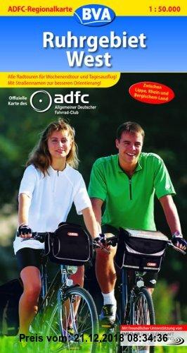 Gebr. - ADFC-Regionalkarte Ruhrgebiet West 1 : 50 000: Zwischen Lippe, Rhein und Bergischem Land. Mit neuem Radverkehrsnetz NRW. Alle Radtouren für Wo