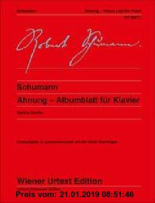 Gebr. - Ahnung: Albumblatt für Klavier. Klavier. (Wiener Urtext Edition)