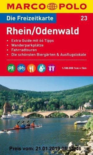Gebr. - MARCO POLO Freizeitkarte Rhein/Odenwald 1:100.000