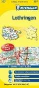 Gebr. - Lothringen: Radwege und autofreie Wege, Routenvorschläge, Stadtpläne: Metz, Nancy (Michelin Localkarte)