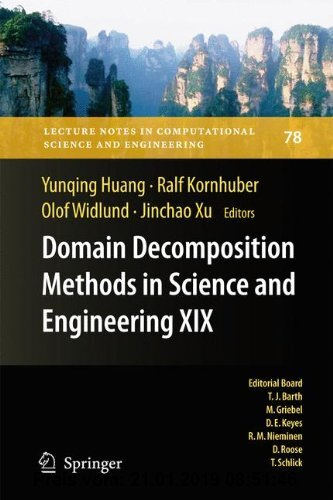 Gebr. - Domain Decomposition Methods in Science and Engineering XIX (Lecture Notes in Computational Science and Engineering)
