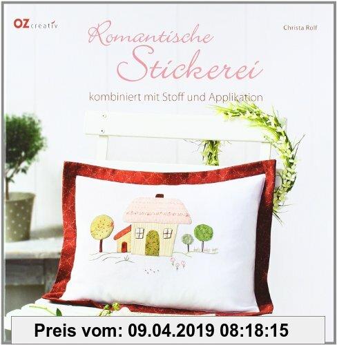 Gebr. - Romantische Stickerei kombiniert mit Stoff und Applikation