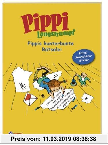 Gebr. - Pippi Langstrumpf - Pippis kunterbunte Rätselei: Rätsel, Ausmalbilder, Sticker