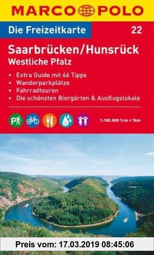 Gebr. - MARCO POLO Freizeitkarte Saarbrücken, Hunsrück, Westliche Pfalz 1:100.000