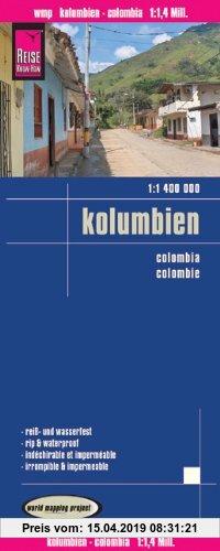 Gebr. - Reise Know-How Landkarte Kolumbien (1:1 400 000)