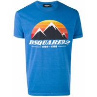 Dsquared2 t-shirt imprimé montagne - Bleu