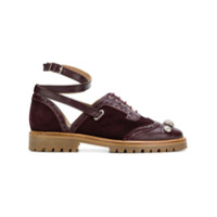 Rue St ankle strap brogue shoes - Rose