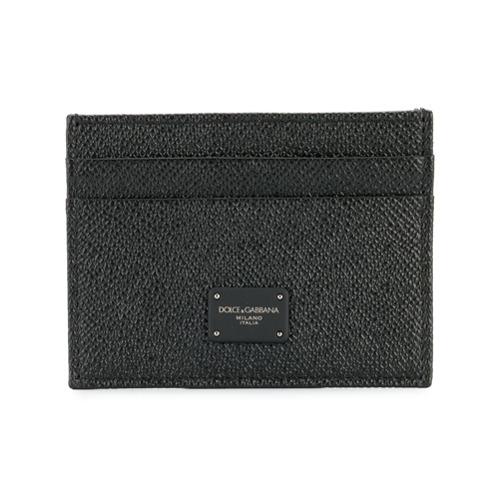 Dolce & Gabbana porte-cartes à plaque logo - Noir