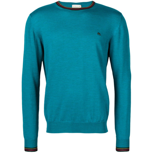 Etro logo long-sleeve sweater - Bleu