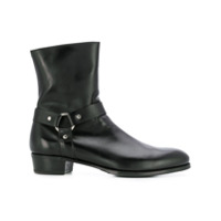 Lidfort bottines d'inspiration western - Noir