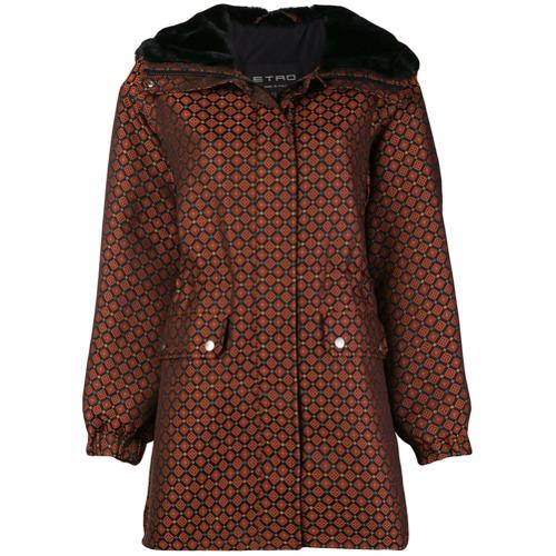 Etro geometric printed coat - Noir