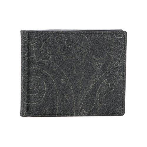 Etro portefeuille à motif cachemire - Noir