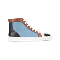 Louis Leeman baskets montantes colour block - Bleu