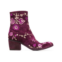 Fauzian Jeunesse embroidered ankle boots - Rose
