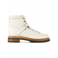 Hermès Vintage bottines lacées à boucle - Blanc