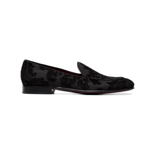 Dolce & Gabbana mocassins en brocart - Noir