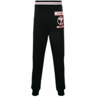 Moschino question mark logo joggers - Noir