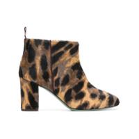 Paola D'arcano leopard print ankle boots - Tons Neutres