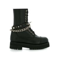 À La Garçonne military boots - Noir