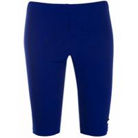 MSGM short cycliste à patch logo - Bleu