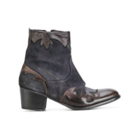 Ink bottines d'inspiration western - Bleu